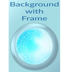 Porthole with abstract background vector
