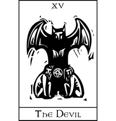 Devil tarot card vector