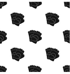 Protective glovespaintball single icon in black vector