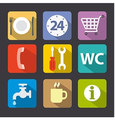 service icon set vector image