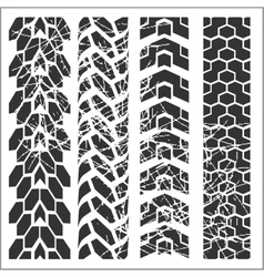 Tire tracks - set vector