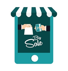 Shopping online vector