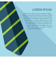 Tie icon with text eps10 vector