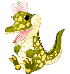 Baby girl crocodile vector