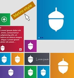 Acorn icon sign buttons modern interface website vector
