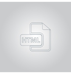 Html file extension icon vector