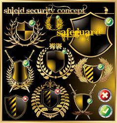 Shield security concept vector