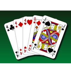 Poker hand - three of a kind trips vector