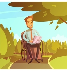Disabled businessman vector
