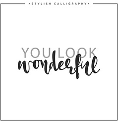 Calligraphy isolated on white background vector