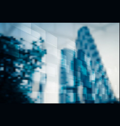Abstract blur business office background vector