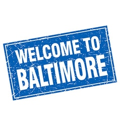 Baltimore blue square grunge welcome to stamp vector