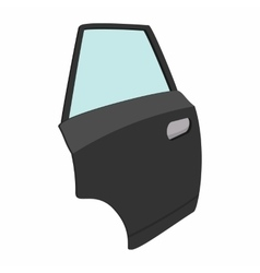 Car door single cartoon icon vector image