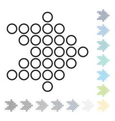 Circle arrow right icon vector
