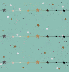 Cute frame with glittering stars vector