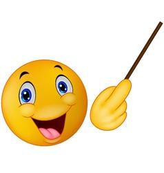 Emoticon smiley doing presentation vector