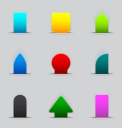Feedback tabs on the edge of the web page vector image vector image