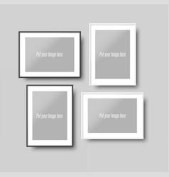 Frames moclups realistic set vector