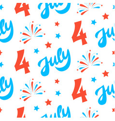 Independence day of america festive background vector