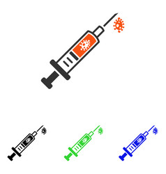 Infection injection flat icon vector
