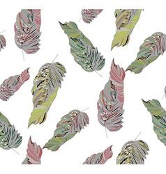 Leaf pastel pattern2 vector image