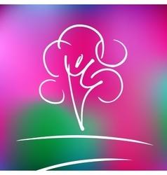 Logo rose nature tree and harmony vector