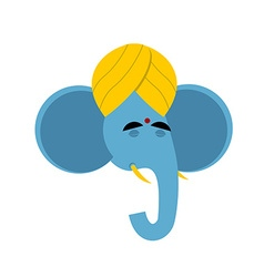 Lord Ganesha Elephant yoga Indian elephant god vector image