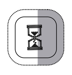 monochrome contour with square sticker of vector image vector image
