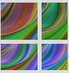 Multicolored psychedelic brochure background set vector image vector image
