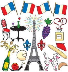 paris france clipart elements vector image