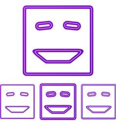 Purple line laugh logo design set vector