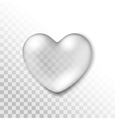 Realistic Water Heart Drop Isolated vector image vector image