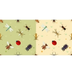Sealmess insects pattern vector image vector image