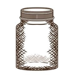 Silhouette vintage jar of jam with lid vector