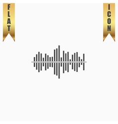 Sound wave icon - equalizer music element or vector image