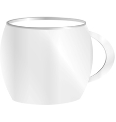 tea cup isolated on white front view vector image