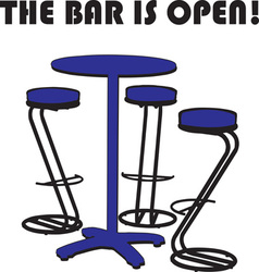 The bar is open vector