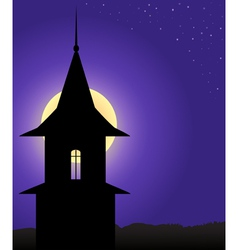 The tower in the moonlight vector image