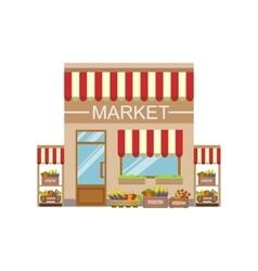 Vegetable Market Commercial Building Facade Design vector image vector image