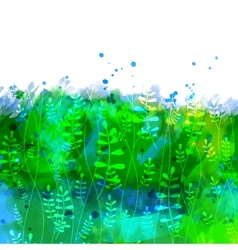 Watercolor floral texture vector
