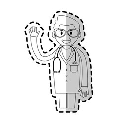 Medical doctor cartoon icon image vector
