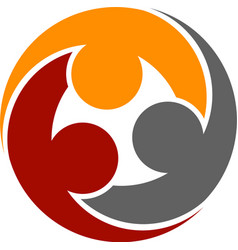 Human community round symbol vector