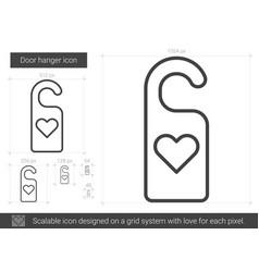 Door hanger line icon vector