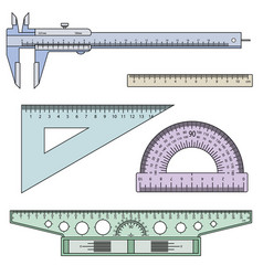 Set of measuring instruments vector