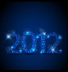 Blue new year card 2012 vector