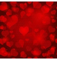 Red valentine seamless pattern vector