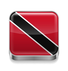 Metal icon of trinidad and tobago vector