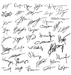 Set of autographs vector