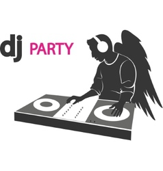 DJ rarty vector image