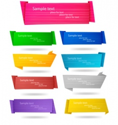 Big set with origami banners vector
